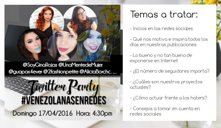 Twitter Party #VenezolanasEnRedes