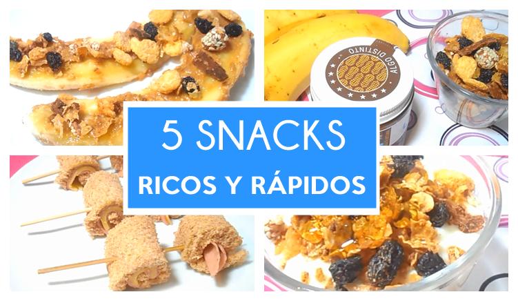 5 Snacks Ricos y Fáciles de Hacer