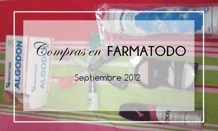 Compras en Farmatodo (Septiembre 2012)
