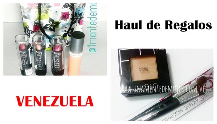 Haul de regalos de maquillaje (Venezuela)