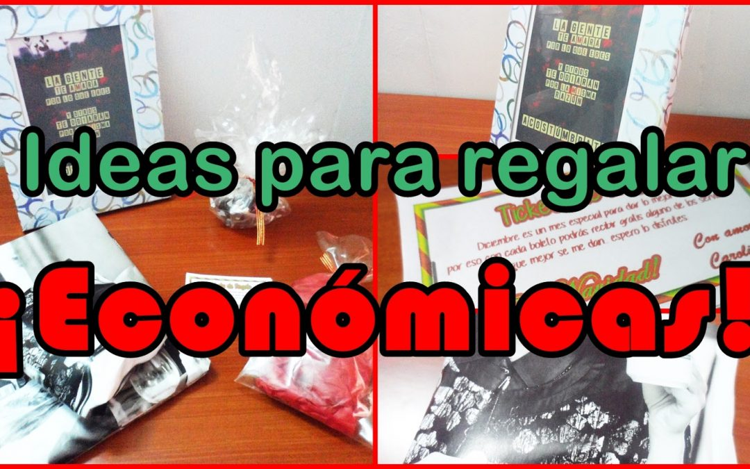 Ideas económicas para regalar