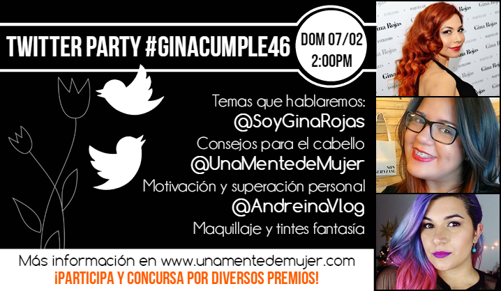 Twitter Party #GinaCumple46