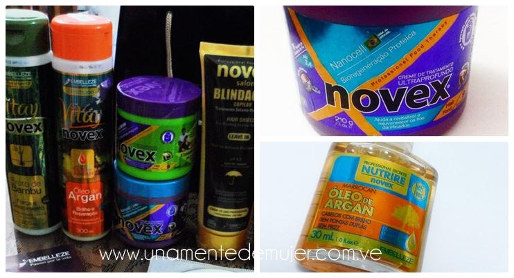 Cuidado del cabello con productos NOVEX