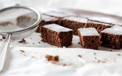 Receta brownie de chocolate en microondas