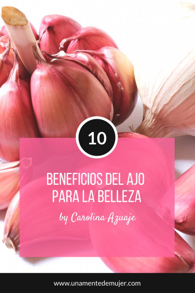 Beneficios del ajo para la belleza